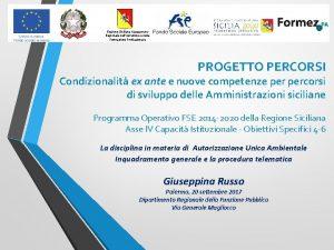 Regione Siciliana Assessorato Regionale dellIstruzione e della Formazione