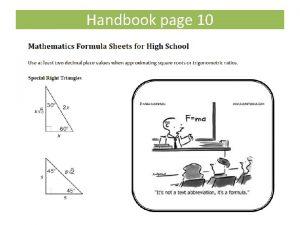 Handbook page 10 Handbook page 22 Special Right