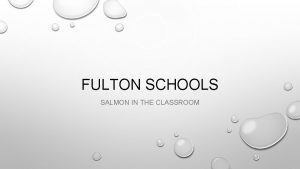 FULTON SCHOOLS SALMON IN THE CLASSROOM INTRODUCTIONS MR