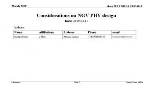 March 2019 doc IEEE 802 11 190310 r