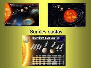 Sunev sustav Sadraj Uvod Openito Skupine planeta Zemlja