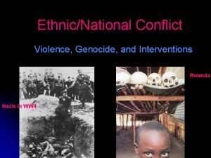 EthnicNational Conflict Violence Genocide and Interventions Rwanda Nazis
