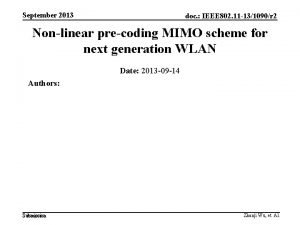 September 2013 doc IEEE 802 11 131090r 2