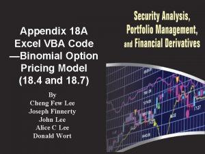 Appendix 18 A Excel VBA Code Binomial Option
