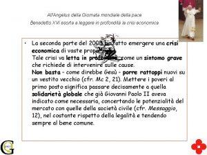 AllAngelus della Giornata mondiale della pace Benedetto XVI