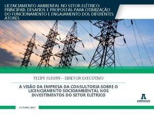 LICENCIAMENTO AMBIENTAL NO SETOR ELTRICO PRINCIPAIS DESAFIOS E