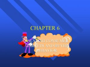 CHAPTER 6 ANALYZING CONSUMER MARKETS AND BUYER BEHAVIOR