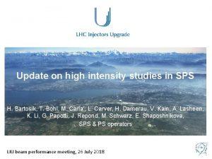 Update on high intensity studies in SPS H