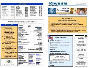 January 28 2010 CLUB MEMBERS Florida District Division