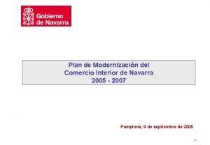 Plan de Modernizacin del Comercio Interior de Navarra