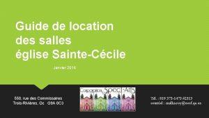 Guide de location des salles glise SainteCcile Janvier