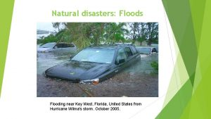 Natural disasters Floods Flooding near Key West Florida