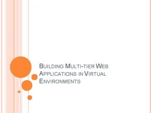 BUILDING MULTITIER WEB APPLICATIONS IN VIRTUAL ENVIRONMENTS OUTLINE