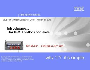 IBM e Server i Series Southeast Michigan i