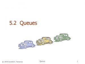 5 2 Queues 2004 Goodrich Tamassia Queues 1