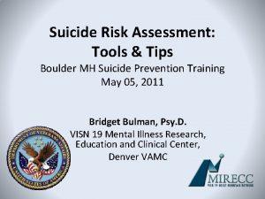 Suicide Risk Assessment Tools Tips Boulder MH Suicide