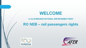 WELCOME to the ROMANIAN NATIONAL ENFORCEMENT BODY RO