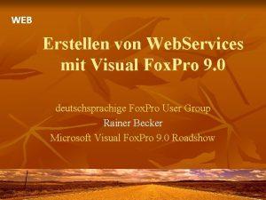 WEB Erstellen von Web Services mit Visual Fox