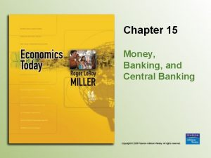Chapter 15 Money Banking and Central Banking Introduction