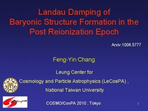 Landau Damping of Baryonic Structure Formation in the