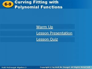 Curve Fitting with Curving Fitting 6 9 Polynomial