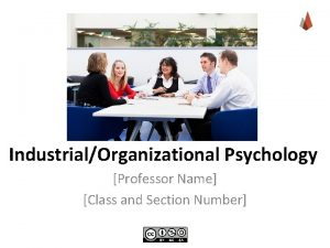 IndustrialOrganizational Psychology Professor Name Class and Section Number
