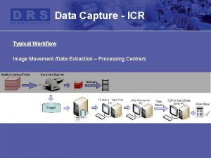Data Capture ICR Typical Workflow Image Movement Data