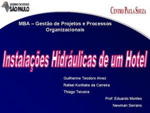 MBA Gesto de Projetos e Processos Organizacionais Guilherme