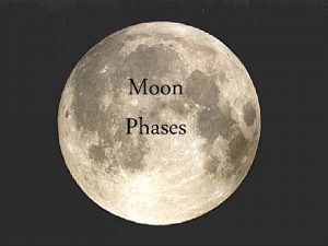 Moon Phases Half of the Moon is always