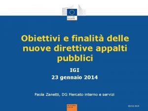 Obiettivi e finalit delle nuove direttive appalti pubblici
