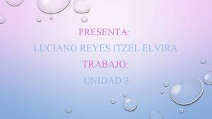 PRESENTA LUCIANO REYES ITZEL ELVIRA TRABAJO UNIDAD 3