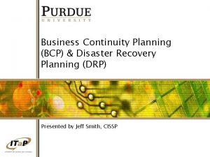 Business Continuity Planning BCP Disaster Recovery Planning DRP