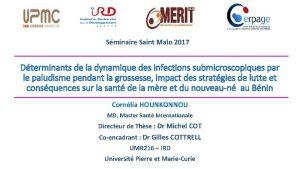 Sminaire Saint Malo 2017 Dterminants de la dynamique