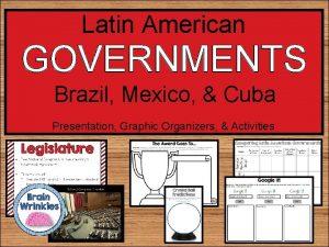 Latin American GOVERNMENTS Brazil Mexico Cuba Presentation Graphic