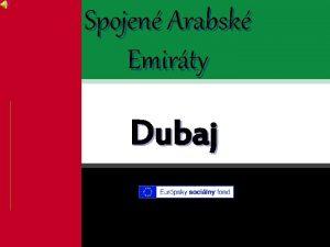 Spojen Arabsk Emirty Dubaj Obsah 1 vod 2