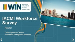 IACMI Workforce Survey Results Colby SpencerCesaro Workforce Intelligence