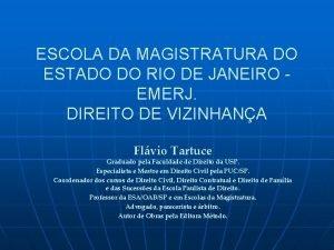 ESCOLA DA MAGISTRATURA DO ESTADO DO RIO DE