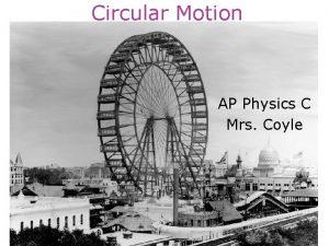 Circular Motion AP Physics C Mrs Coyle Circular