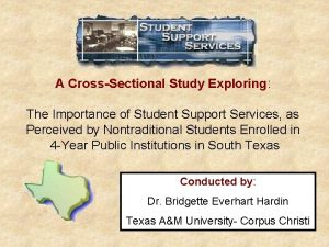 A CrossSectional Study Exploring The Importance of Student