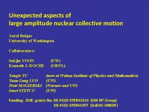 Unexpected aspects of large amplitude nuclear collective motion