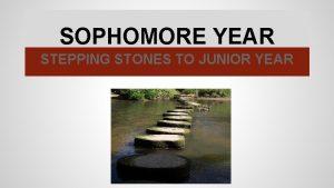 SOPHOMORE YEAR STEPPING STONES TO JUNIOR YEAR PREPARING