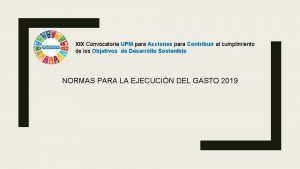 XIX Convocatoria UPM para Acciones para Contribuir al