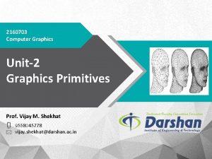 2160703 Computer Graphics Unit2 Graphics Primitives Prof Vijay