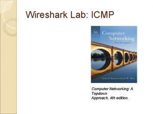 Wireshark Lab ICMP Computer Networking A Topdown Approach