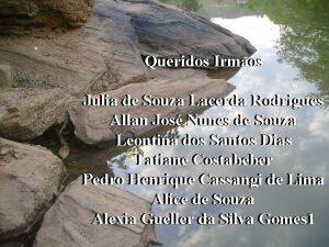 Queridos Irmos Julia de de Souza Lacerda Rodrigues