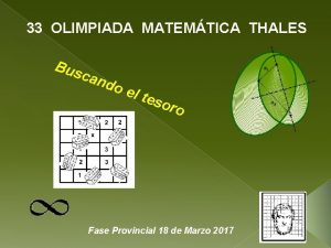 33 OLIMPIADA MATEMTICA THALES Bus can do el