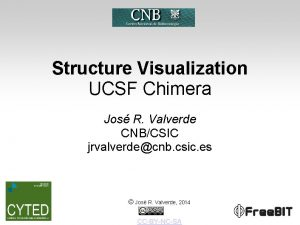 Structure Visualization UCSF Chimera Jos R Valverde CNBCSIC