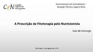 Nutricionistas em Consultrios Atuao Tcnica Legal e tica