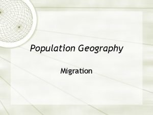 Population Geography Migration Vocabulary Migration A permanent move