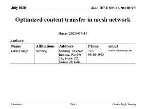 July 2020 doc IEEE 802 11 201007 r